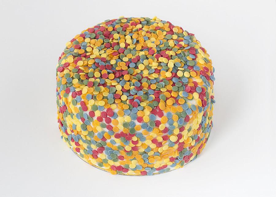 Tutorial tarta con lentejuelas