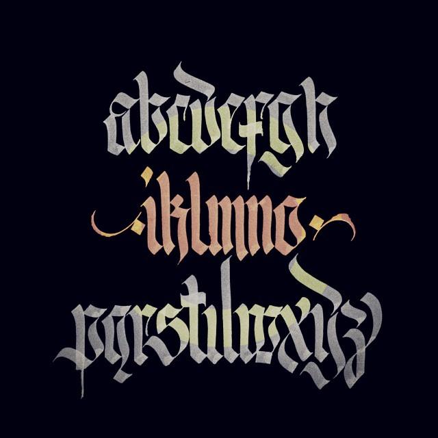 Calligraphy Inok Inoque Fraktur Gothic Blackletter