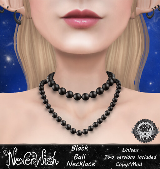 *NW* Black Ball Necklace