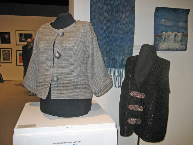 Handwoven and felted pieces in Burlington Handweavers & Spinners Guild 2015 Juried Show The Colour of Water