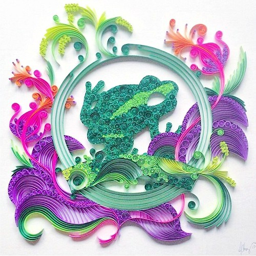 Quilled Frog by Ashley Chiang