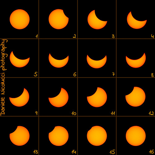 Solar Eclipse of 2015-03-20, Composite of 16 images | by Daniele Nicolucci photography