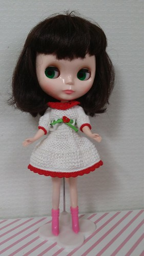 White dress for Blythe | by worlddoll86
