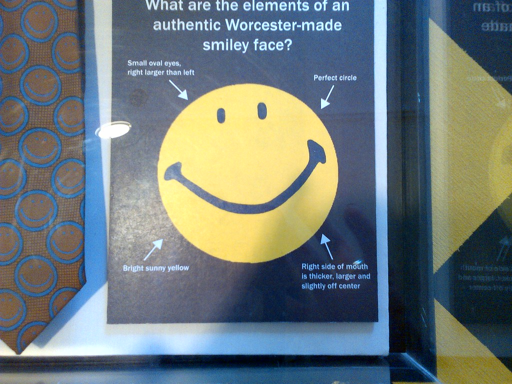 worcester hist  museum harvey ball smiley face exhibit 5