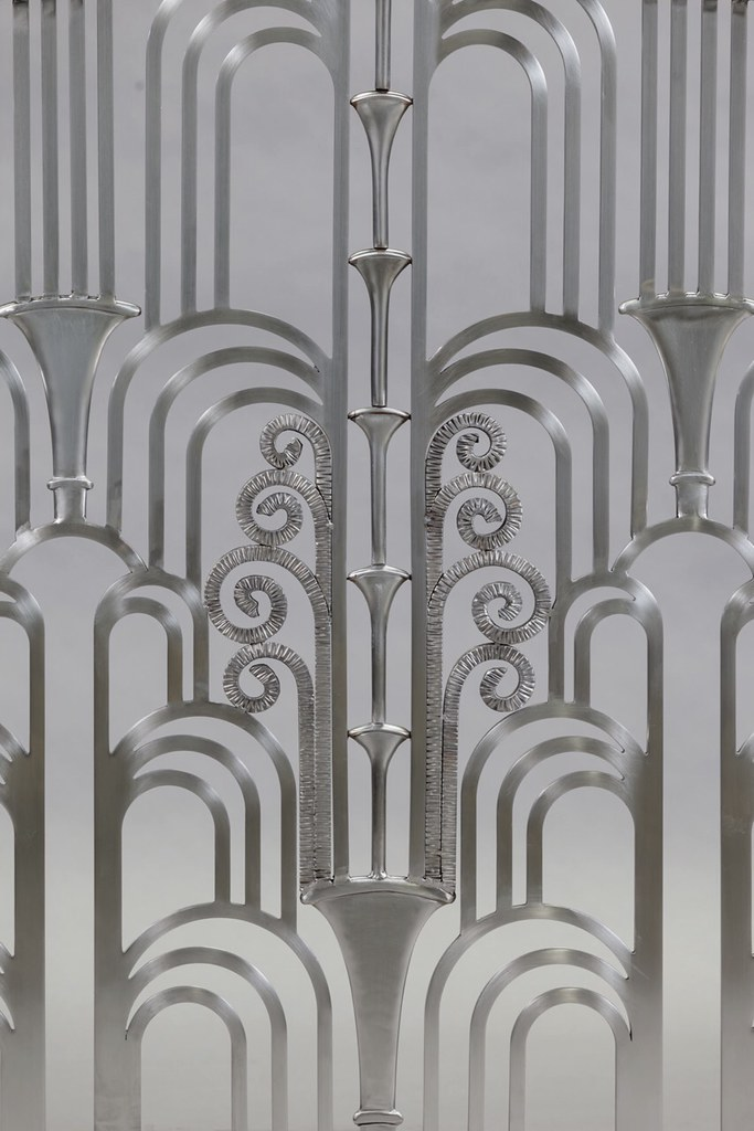 Detail- Art-Deco Stainless Steel- lots & lot\'s of Hand-For… | Flickr