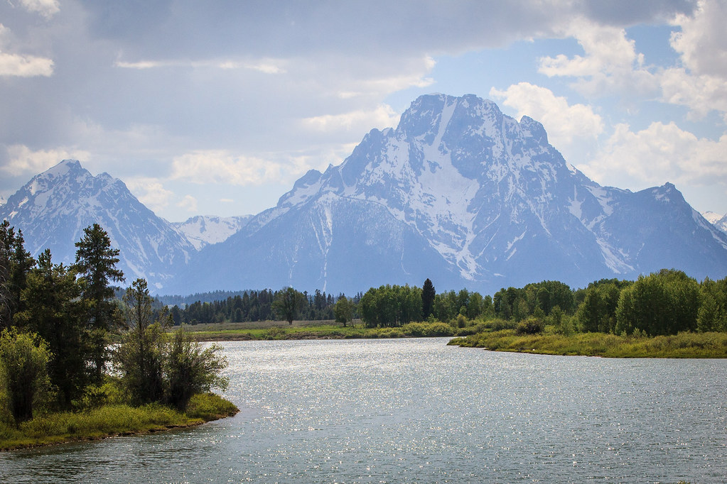 Grand Teton National Park Wy Oxbow Bend Turnout Mount M