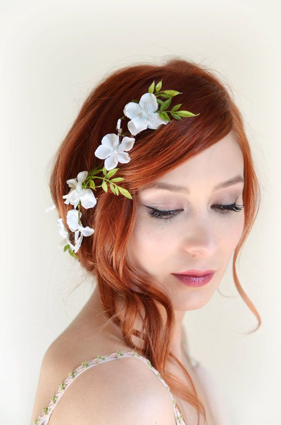 new wedding hair styles white flower hair vine bridal headpiece wedding hair acc 6331