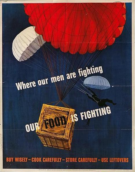 World War II Poster - Our Food Is Fighting