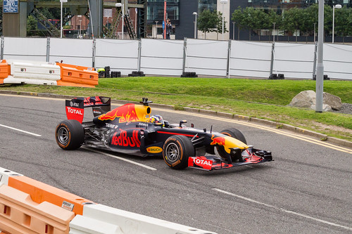 Sérgio brings the RB7 back to the grandstand area | by davewilliams000