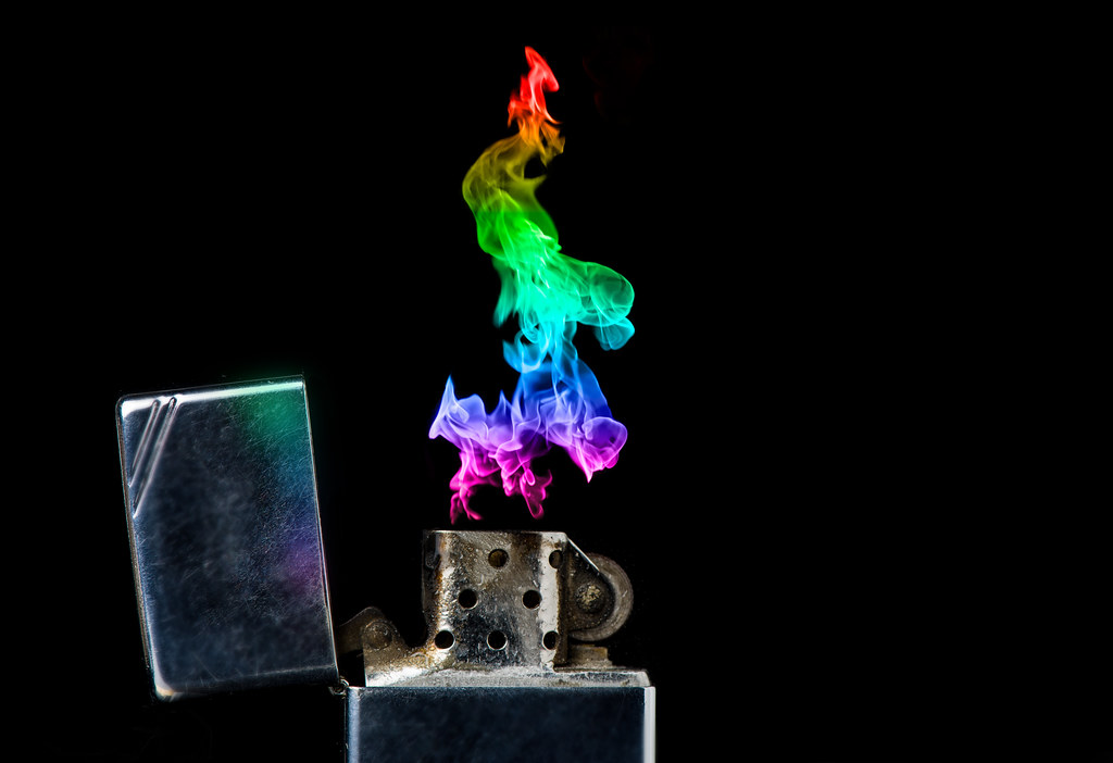 zoof zoof zippo lighter with colored flame on black backg flickr. Black Bedroom Furniture Sets. Home Design Ideas