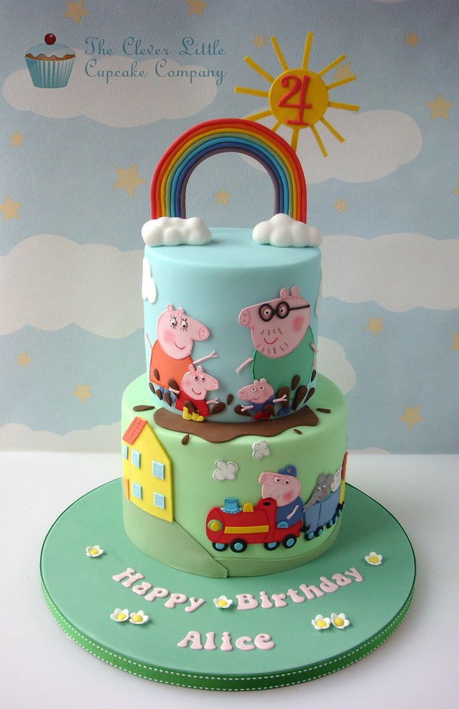 Cake With A Pig On It