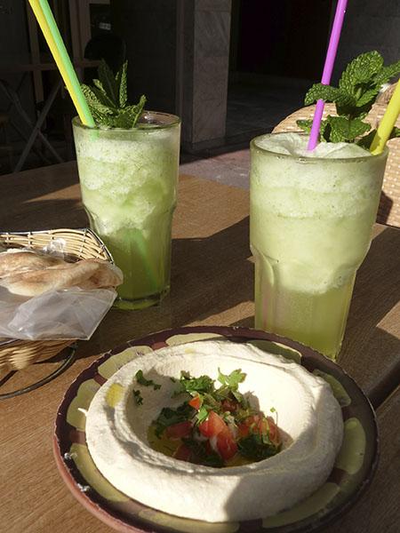 limonade libanaise et houmous