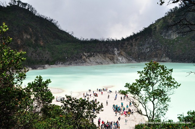 Kawah Putih in West Java Indonesia