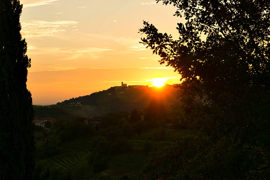Sunset After a Perfect Day in Friuli Venezia Giulia, Italy