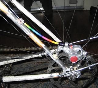 Finally an excuse to use my pile of rainbow brake cable housing