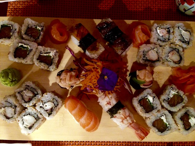 Sushi at Moshi Moshi, Montevideo