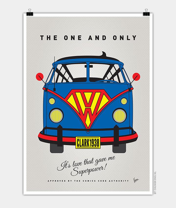 Volkswagen T1 superhero rides by Chungkong - Superman