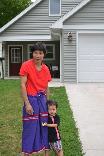 Nyo Maung with his child