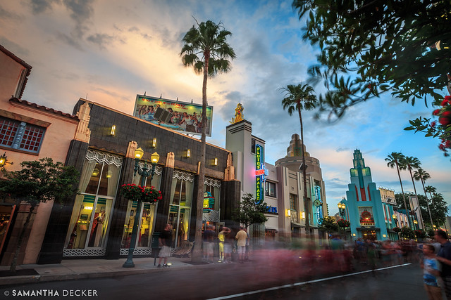 Hollywood Blvd at Dusk