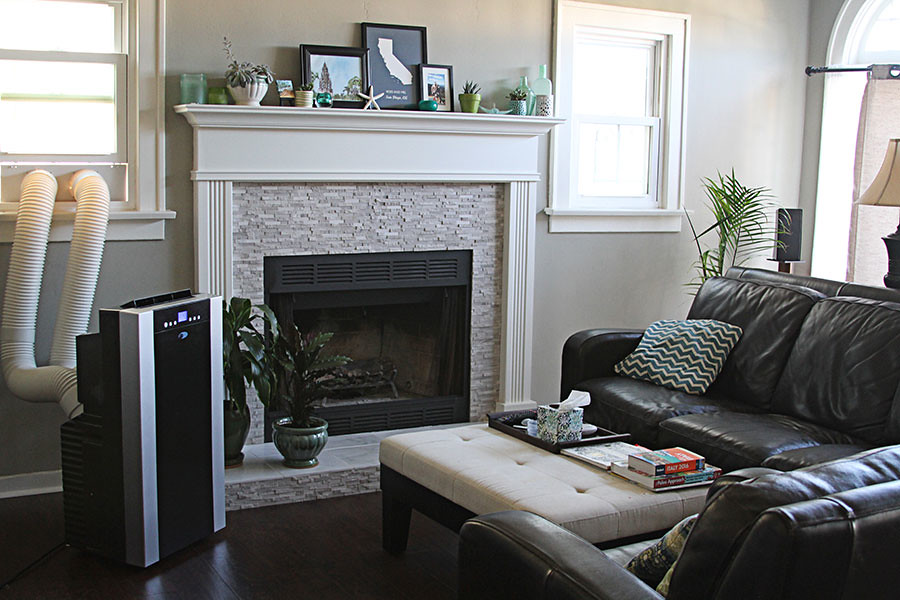 Tudor Style Living Room With Air Conditioner Www