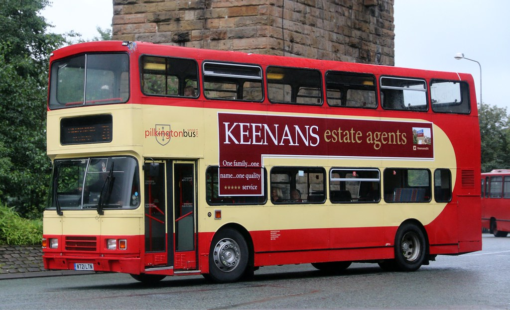 Pilkingtons Of Accrington N721 Ltn In Its Home Town Running Empty To The Bus Station