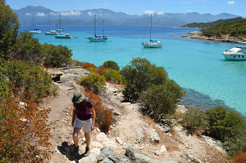 Walking above turquoise waters, Coastal walk Saint Florent, Corsica