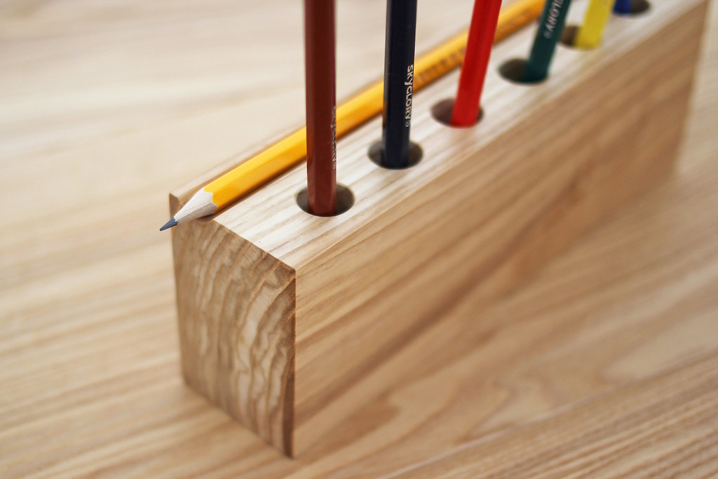 ... Wooden Desk Organizer, Pencil Holder #2 | By ZERGE_VIOLATOR