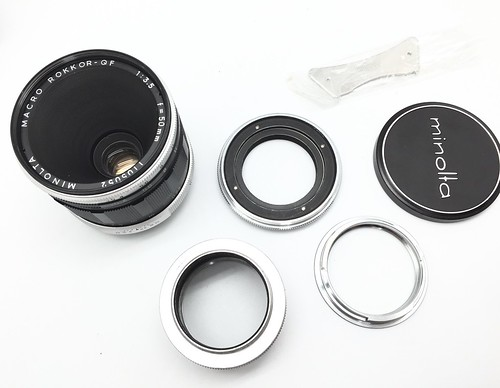 Minolta SR mount Early Mcro Lens outfit.