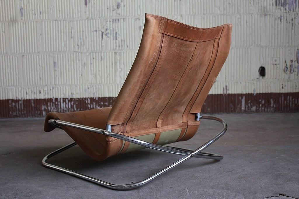 interesting vintage shigeru uchida leather and chrome low flickr