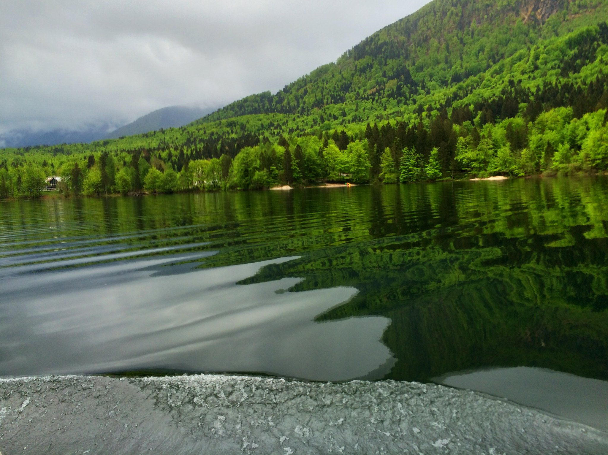 Ferry across Lake Bohinj