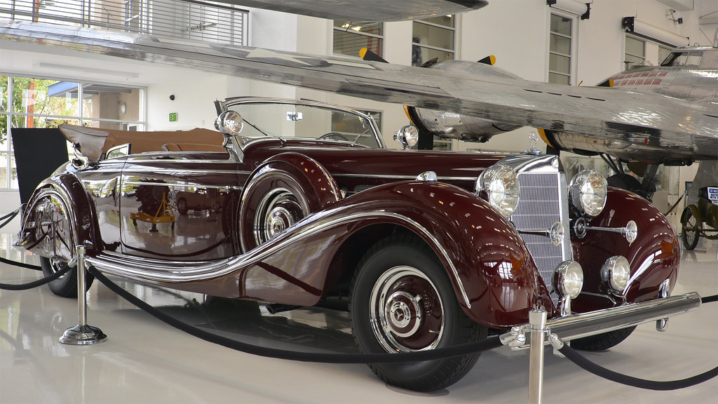 1939 mercedes benz 770k cabriolet b lyon air museum for Mercedes benz indiana