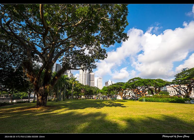 新加坡綠化覆蓋率已達成46.7%,圖為新加坡的城市綠化一景。攝影:Jason Chang(CC BY-NC 2.0)。
