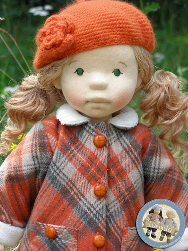 Marlena - natural fiber art doll / 20 inch