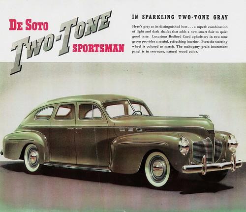 1940 Desoto Custom Two Tone Sportsman 4 Door Sedan Flickr