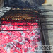 grilled meat over hot coals at shahrazad