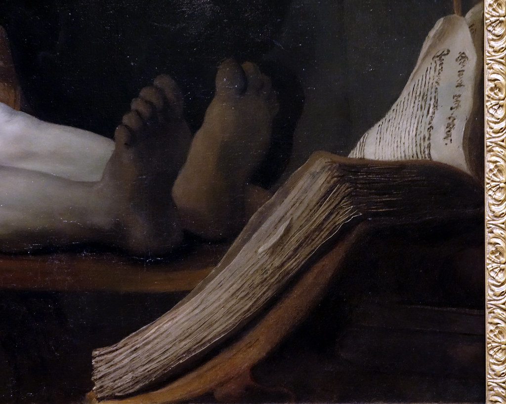 Rembrandt, The Anatomy Lesson of Dr. Tulp, detail with boo… | Flickr