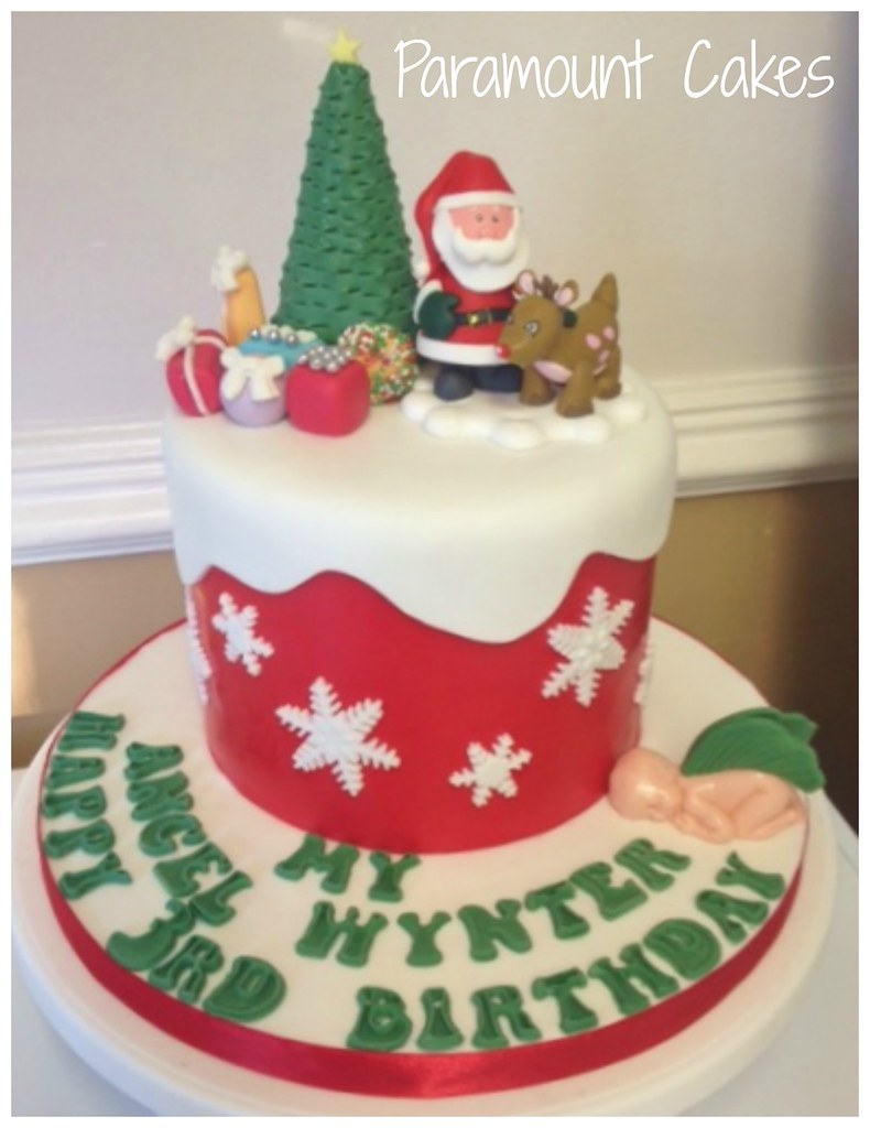 Christmas Birthday Cake Cheryl Luther Flickr