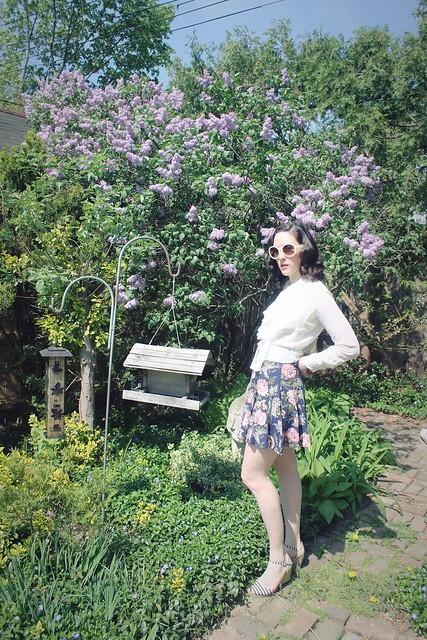 Among lilacs