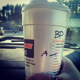 And here we go... Racing season has begun and I've upgraded to a large. #IRunOnDunkins #dunkindonuts #coffee #butterpecan #almondmilk #dunkins #uslegends #racing #itswaytooearly