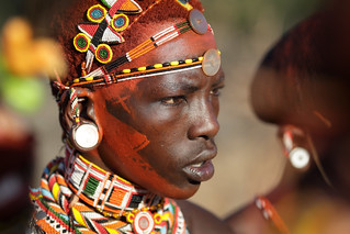 Kenya, Samburu warrior (moran) | Samburu warrior at a ...