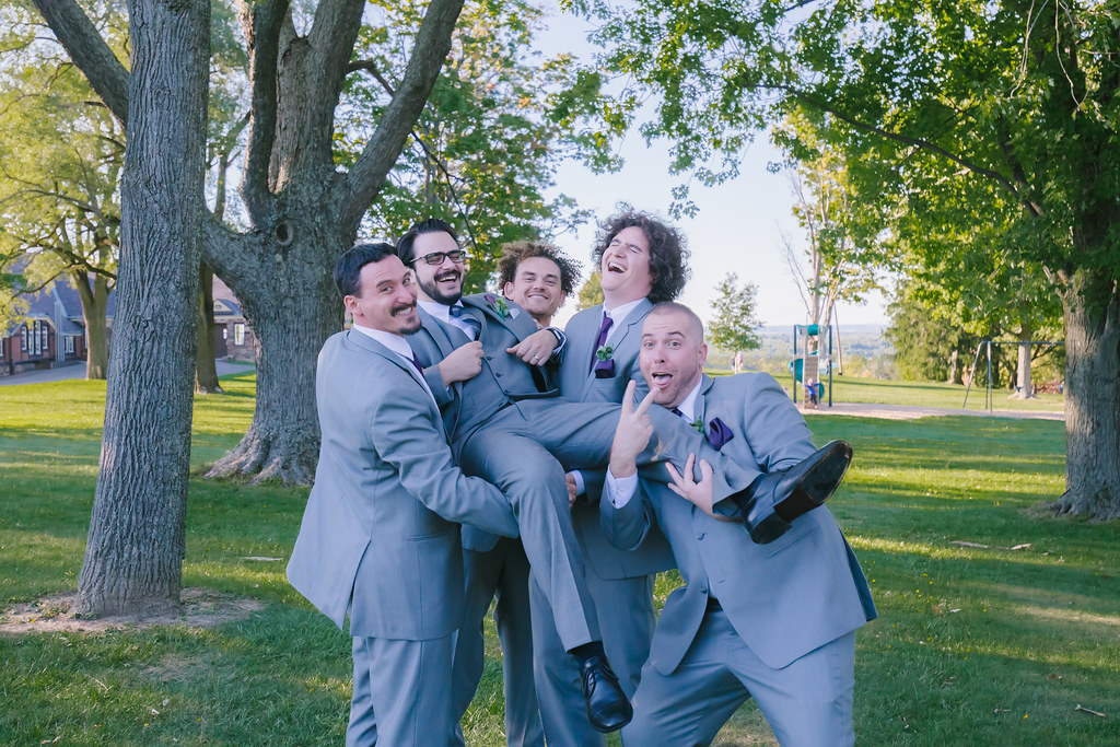 wedding photography groomsmen portrait Photographer Lockport WNY