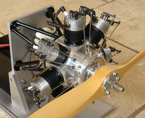 Jemma 7 Cylinder Radial Engine Built By Bob Haagenson Ca
