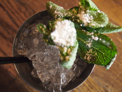 Mint Julep under ice