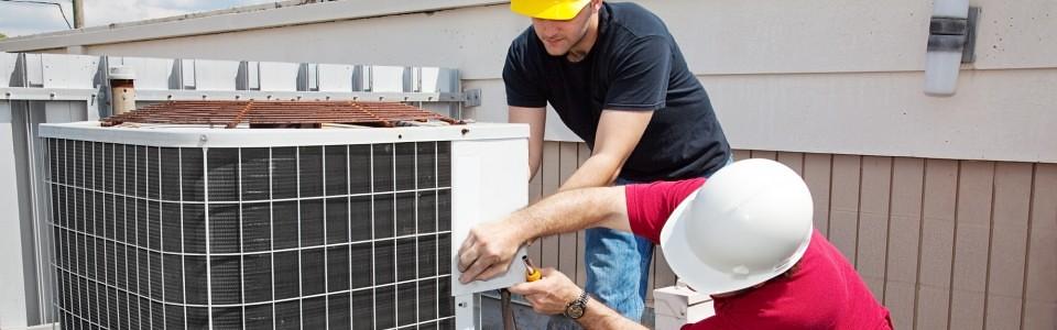 Serviço de instalação de um sistema de ar condicionado industrial