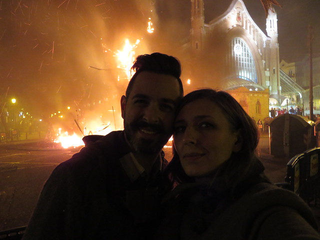 A selfie from March of 2015 with the smoldering remains.