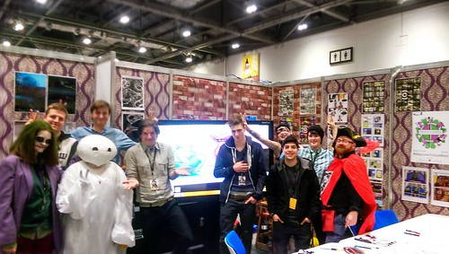 Charlie Adlard (The Walking Dead), the Guildford College touch screen art students and a muskart eer. #LSCC #WelcomeToGuildford #Magic | by paul_kercal