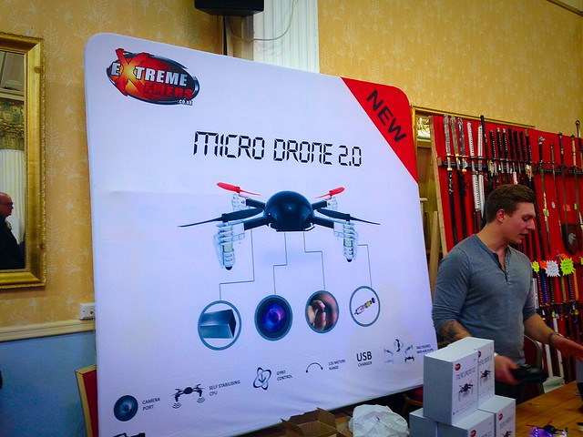 PLAY Blackpool Expo 2015 Extreme Fliers Micro Drone
