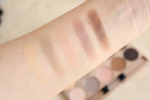 Lise Watier Palette Rivages swatches