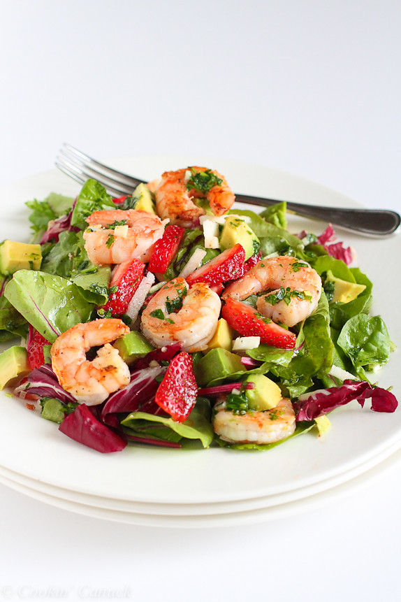 How many calories in shrimp salad