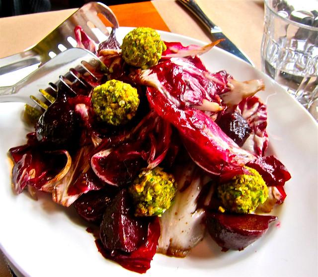 nancy'spistachio=beet-cheese salad